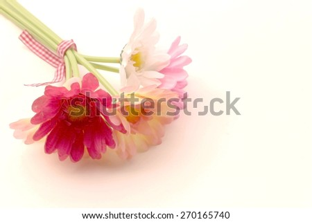 bunch of artificial flower in vintage dry paint - stock photo