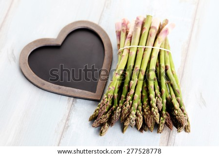 bunch of asparagus - fruits and vegetables - stock photo