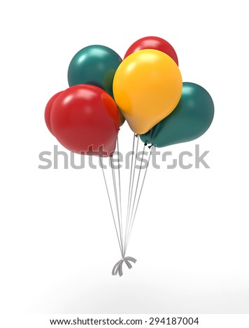 bunch of balloons - stock photo