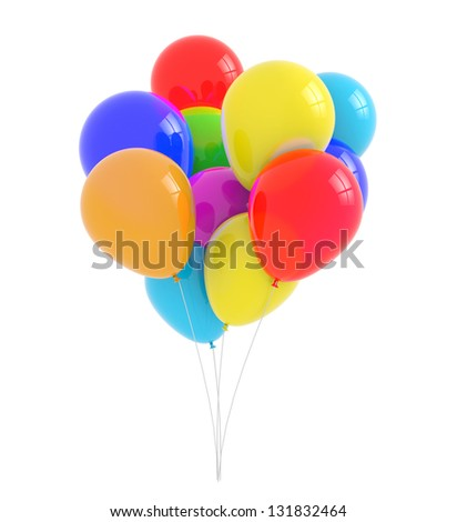Bunch of balloons - Bunch of multicolored balloons on a white background
