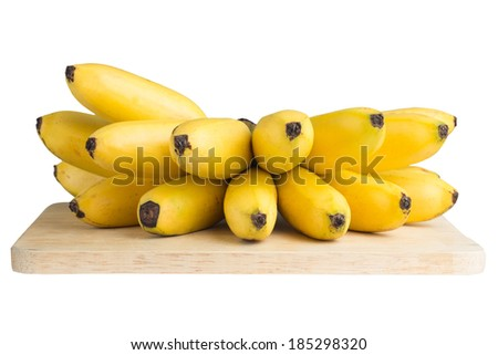 Bunch of bananas isolated on the block