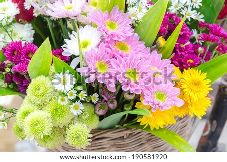 Bunch of flowers - stock photo