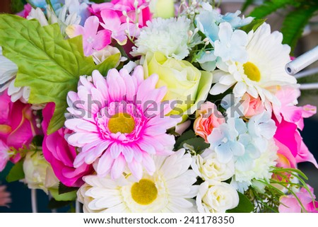 Bunch of flowers decorate for celebration