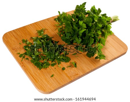 Bunch of fresh green curly parsley  - stock photo