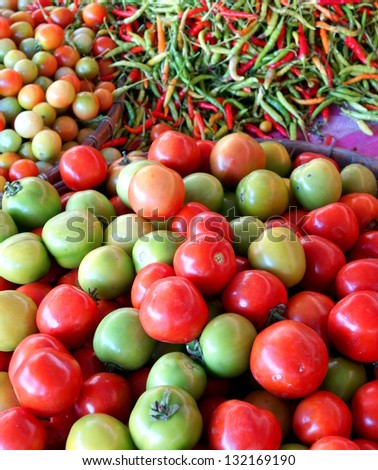 bunch of fresh  tomatoes