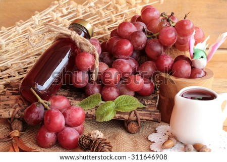 Bunch of grapes fruit  juicy fresh delicious and red wine