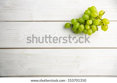Bunch of grapes on table shot in studio