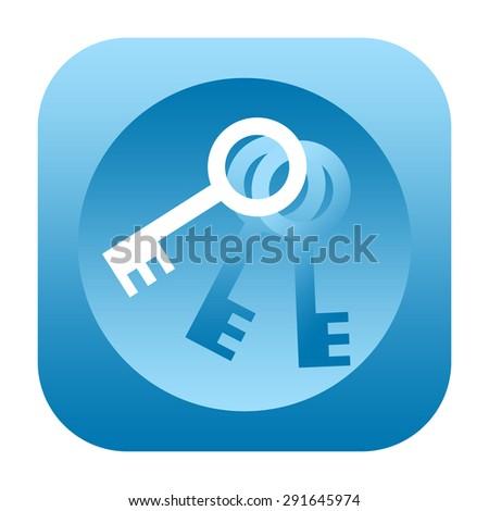 Bunch of keys icon - stock photo