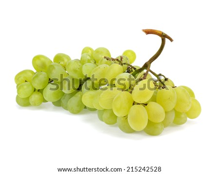 Bunch of organic grapes on a white background