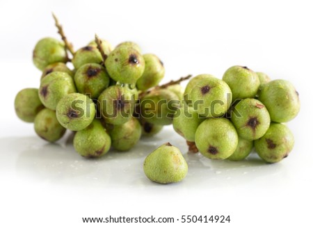 Bunch of raw figs on white background / Blurred and Selective focus image