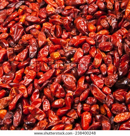 Bunch of Red chili peppers texture - stock photo