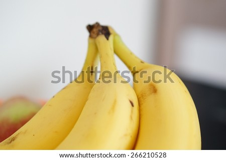Bunch of ripe yellow bananas - stock photo