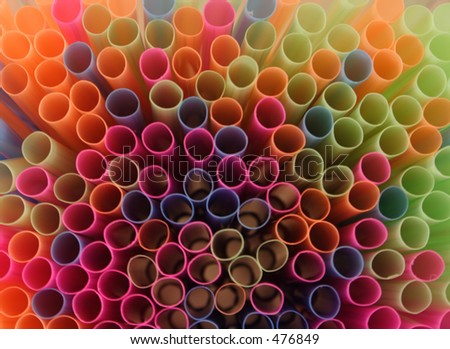 Bunch of straws - stock photo