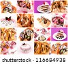 Bunch of the sweet food - stock photo