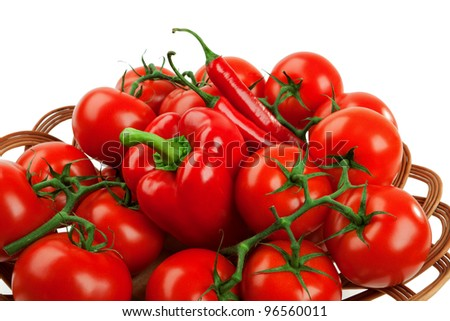 bunch of tomato cherry