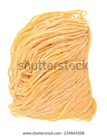 bunch of woton egg  noodle isolated on white background  - stock photo