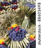 Bunches of lavenders, street market in Sales-sur-Verdon, Provence, France - stock photo