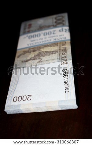 bundle of Indonesian Currency