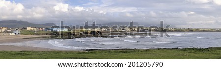 Bundoran, County Donegal, Ireland. While very few people automatically think of Ireland when they think of surfing, the waves that break at Bundoran are some of the world's best.  - stock photo