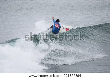 BUNDORAN, IRELAND - JUNE 27: Geroid McDaid performs during Expression Session, part of annual Sea Sessions Surf & Music Festival, on June 27, 2014 in Bundoran, Ireland.
