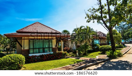 Bungalow Thailand  - stock photo