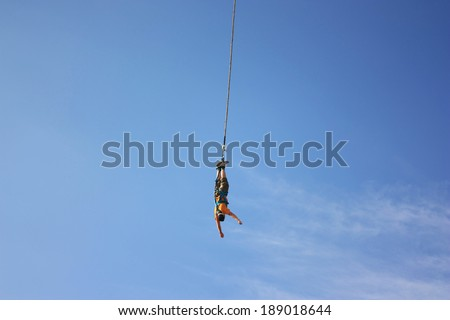 Bungee jump - stock photo