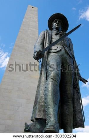 Bunker Hill Monument Park (Charlestown, Boston, Massachusetts, USA / May 18, 2013) - stock photo