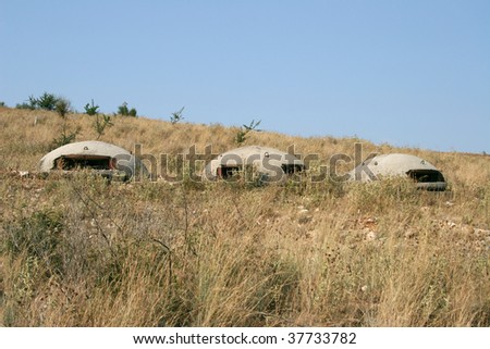 bunkers - stock photo