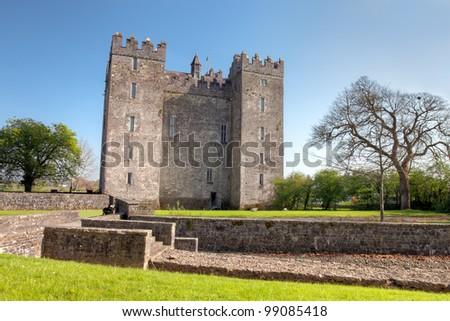 Bunratty Castle in Co. Clare - Ireland. - stock photo