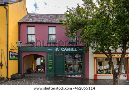 BUNRATTY, IRELAND - JULY 13, 2016: Bunratty  (End of the Raite river) is an authentic small village in County Clare, Ireland