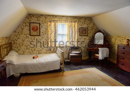 BUNRATTY, IRELAND - JULY 13, 2016: Interior of an authentic house in Bunratty  (End of the Raite river) is an authentic small village in County Clare, Ireland