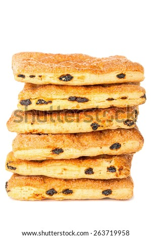 Buns with raisin closeup - stock photo