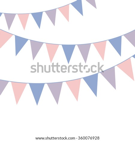 Bunting banner. Rose quarts and serenity colors.