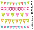 Bunting collection, JPG version - stock photo