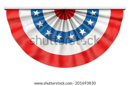 Bunting for July 4 or any American celebration. - stock photo