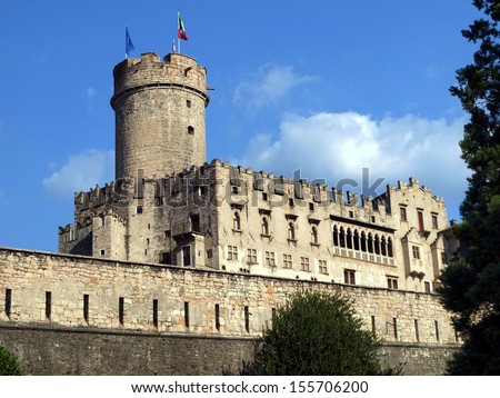 Buonconsiglio castle and museum in Trento Italy - stock photo