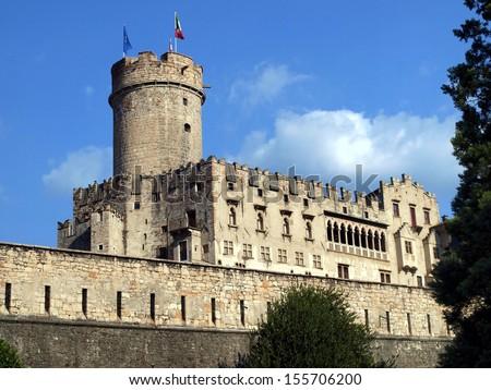 Buonconsiglio castle and museum in Trento Italy - stock photo