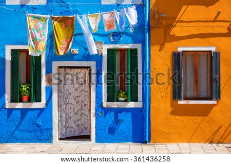BURANO, VENICE, ITALY - AUGUST 20: Usual life of the local people in the touristic famous place on August 20, 2015 on Burano island, province of Venice, Italy
