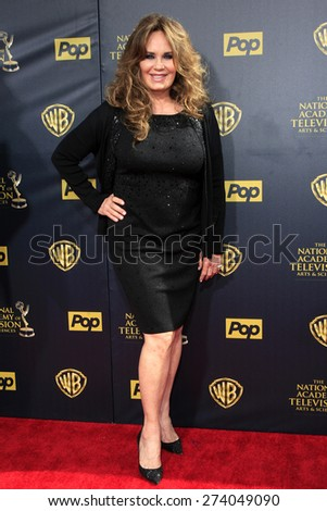 BURBANK - APR 26: Catherine Bach at the 42nd Daytime Emmy Awards Gala at Warner Bros. Studio on April 26, 2015 in Burbank, California - stock photo