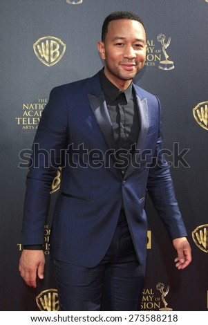 BURBANK - APR 26: John Legend at the 42nd Daytime Emmy Awards Gala at Warner Bros. Studio on April 26, 2015 in Burbank, California - stock photo
