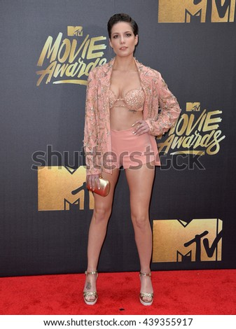 BURBANK, CA. April 9, 2016: Singer Halsey at the 2016 MTV Movie Awards at Warner Bros Studios.