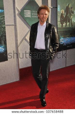 "BURBANK, CA - JULY 12, 2010: Producer Jerry Bruckheimer at a benefit screening for his new movie ""The Sorcerer's Apprentice"" at Walt Disney Studios. - stock photo"