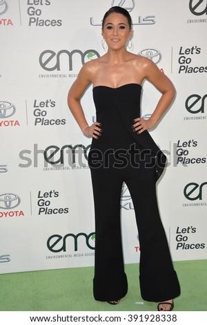 BURBANK, CA - OCTOBER 24, 2015: Emmanuelle Chriqui at the 25th Annual Environmental Media Awards at Warner Bros. Studios, Burbank - stock photo