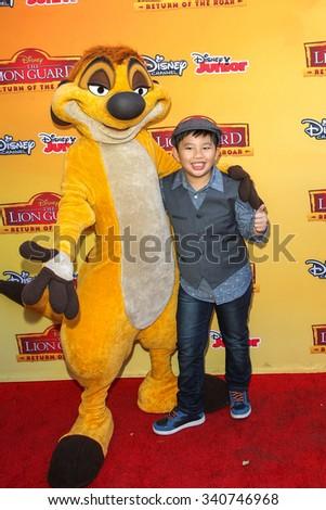 BURBANK, CA/USA -  NOVEMBER  14  2015: Albert Tsai attends the premiere of Disney Channel's 'The Lion Guard: Return Of The Roar' at Walt Disney Studios. - stock photo