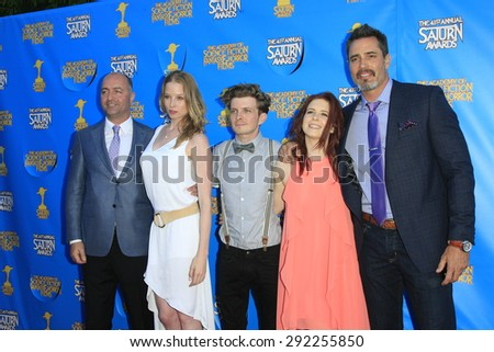 BURBANK - JUN 25: Continuum cast at the 41st Annual Saturn Awards at The Castaway on June 25, 2015 in Burbank, California, - stock photo