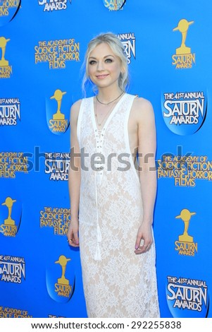 BURBANK - JUN 25: Emily Kinney at the 41st Annual Saturn Awards at The Castaway on June 25, 2015 in Burbank, California, - stock photo
