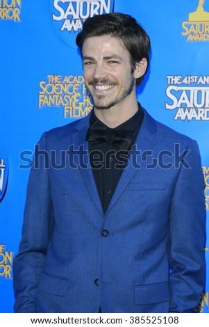 BURBANK - JUN 25: Grant Gustin at the 41st Annual Saturn Awards at The Castaway on June 25, 2015 in Burbank, California, - stock photo