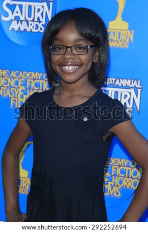 BURBANK - JUN 25: Marsai Martin at the 41st Annual Saturn Awards at The Castaway on June 25, 2015 in Burbank, California, - stock photo