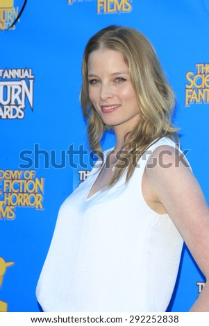 BURBANK - JUN 25: Rachel Nichols at the 41st Annual Saturn Awards at The Castaway on June 25, 2015 in Burbank, California, - stock photo