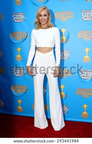 BURBANK - JUNE 25: Laura Vandervoort arrives at the 41st Annual Saturn Awards on Thursday, June 25, 2015 at the Castaway Restaurant in Burbank, CA. - stock photo